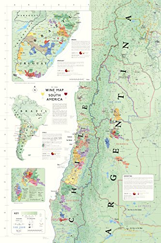 9781936880089: Wine Map of South America