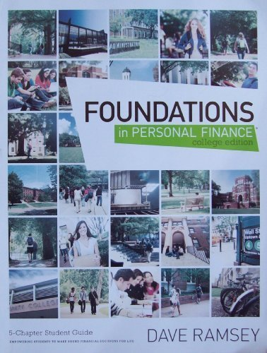 Foundations In Personal Finance, College Edition: Ramsey, Dave