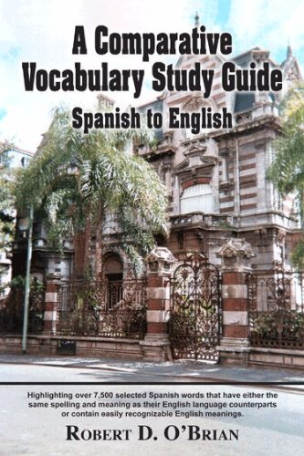 9781936989676: A Comparative Vocabulary Study Guide Spanish to English