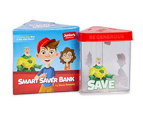 Juniors Adventures Smart Saver Bank 9781937077877 Teach your kids how to spend, save, and give with the Smart Saver Bank! It has been completely redesigned to make learning about money even more fun. Three compartments labeled SPEND, SAVE, and GIVE make it easy for kids to budget their cash. The heavy-duty plastic and silicone top make the bank durable. Plus, the bank is transparent so kids can see their progress!