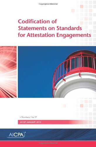 Codification of Statements on Standards for Attestation Engagements, Numbers 1 to 17, as of January...