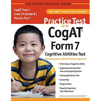 9781937383008: Practice Test for the CogAT® Form 7 Level 5/6 (Grade K*) Practice Test 1