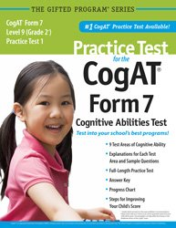 Practice Test for the CogAT® Form 7 Level 9 (Grade 2*) Practice Test 1: Mercer Publishing