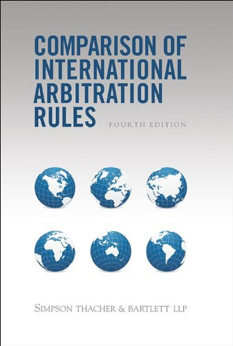 9781937518165: Comparison of International Arbitration Rules - 4th Edition