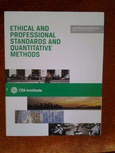 CFA Program Curriculum, Level I: CFA Institute