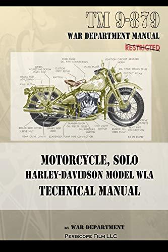 Motorcycle, Solo Harley-Davidson Model WLA Technical Manual: Department, War