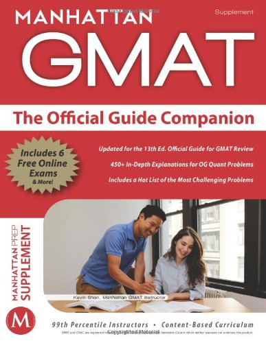 9781937707330: Official Guide Companion (Manhattan Prep Supplement)