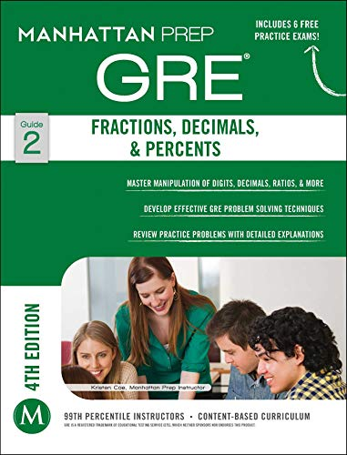 9781937707842: GRE Fractions, Decimals, & Percents (Manhattan Prep GRE Strategy Guides)