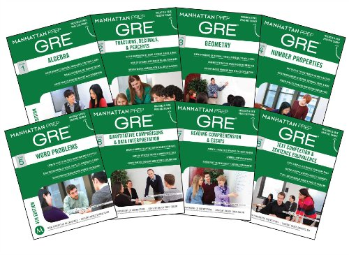 9781937707910: Manhattan Prep GRE Set of 8 Strategy Guides (Manhattan Prep GRE Strategy Guides)