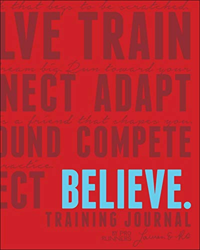 Believe Training Journal (Classic Red, Updated Edition): Lauren Fleshman