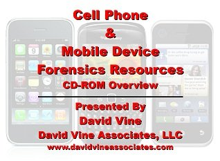 9781937729400: Cell Phone & Mobile Device Forensic Resources Slides and Video