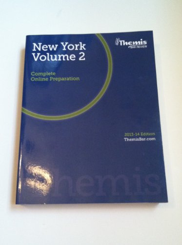 9781938238437: Themis Bar Review New York Volume 2 Complete Online Preparation 2013-2014