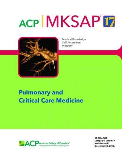 9781938245299: MKSAP (R) 17 Pulmonary and Critical Care Medicine