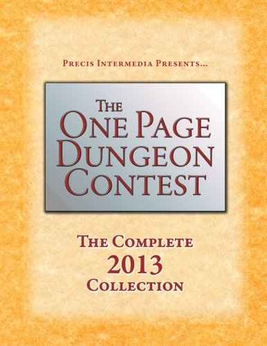 9781938270161: The One Page Dungeon Contest 2013