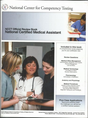 9781938354007: NCCT Official Review Book, National Certified Medical Assistant / Official Practice Test (2 Vols)