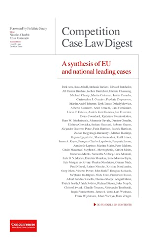 9781939007308: Competition Case Law Digest: A Synthesis Of Eu And National Leading Cases