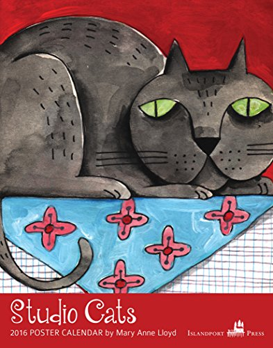 Studio Cats 2016 Poster Calendar: Mary Anne Lloyd