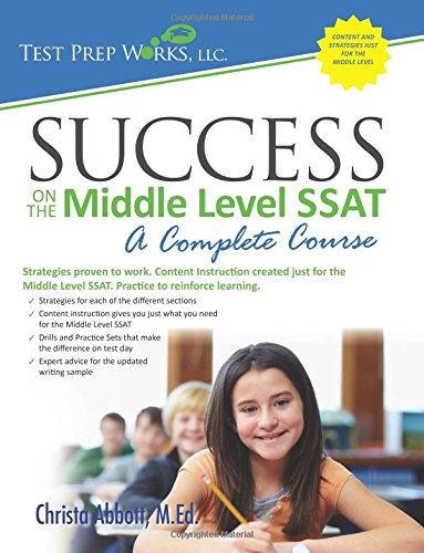 9781939090027: Success on the Middle Level SSAT: A Complete Course