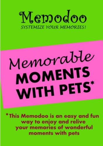 Memodoo Memorable Moments With Pets: Memodoo