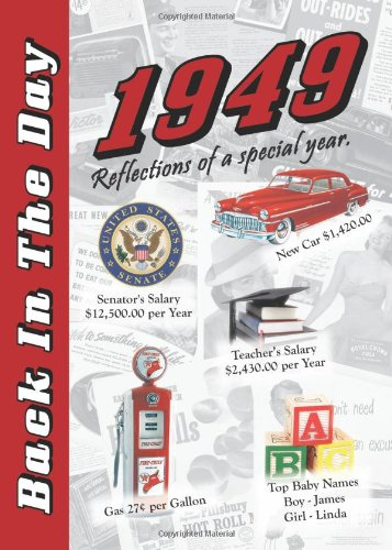 9781939380098: 1949 Back In The Day Almanac -- 24-page Booklet / Greeting Card