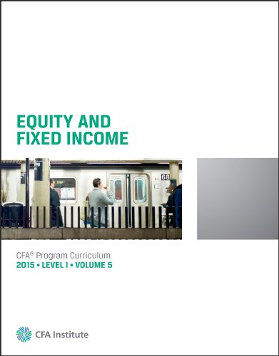 9781939515360: Equity and Fixed Income: CFA Curriculum (2015 Ed)