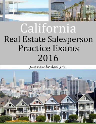 9781939526342: California Real Estate Salesperson Practice Exams for 2016