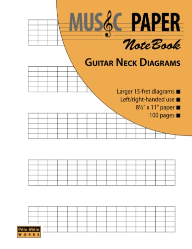 9781939619044: Music Paper Notebook - Guitar Neck Diagrams