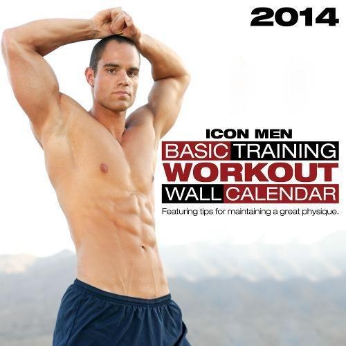 2014 Icon Men: Basic Training: Workout Wall Calendar (Calendars): Icon Men