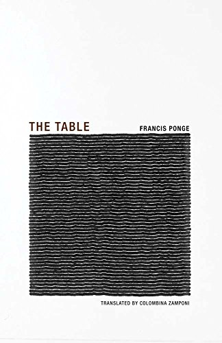 9781939663245: Francis Ponge - the Table