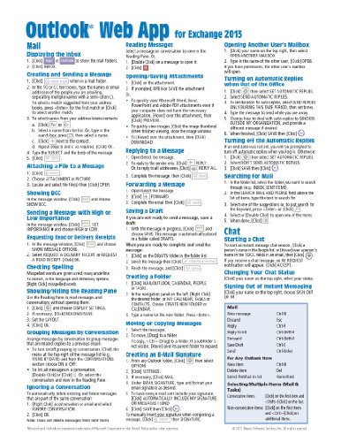 9781939791115: Microsoft Outlook Web App (OWA) for Exchange 2013 Quick Reference Guide (Cheat Sheet of Instructions, Tips & Shortcuts - Laminated Card)
