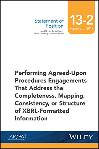 9781940235141: SOP 13-2 Performing Agreed-Upon Procedures Engagements -XBRL-Formatted Information