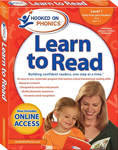 9781940384108: Hooked on Phonics Learn to Read - Level 1: Early Emergent Readers (Pre-K | Ages 3-4)
