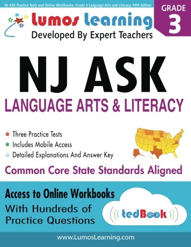 9781940484006: NJ ASK Practice Tests and Online Workbooks: Grade 3 Language Arts and Literacy, Fifth Edition: Common Core State Standards, NJASK 2014