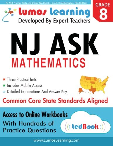 9781940484112: NJ ASK Practice Tests and Online Workbooks: Grade 8 Mathematics, Third Edition: Common Core State Standards, NJASK 2014