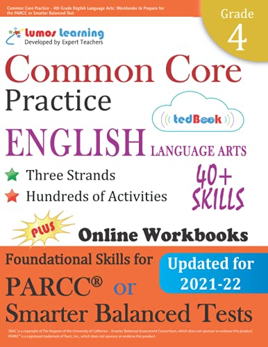 9781940484501: Common Core Practice - 4th Grade English Language Arts: Workbooks to Prepare for the PARCC or Smarter Balanced Test: CCSS Aligned (CCSS Standards Practice) (Volume 3)