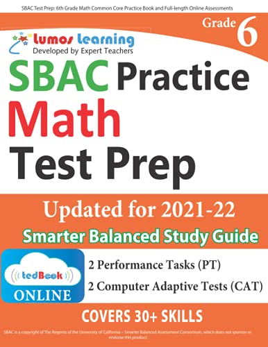 Sbac Test Prep: 6th Grade Math Common Core
