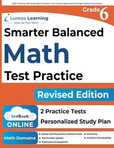 Sbac Test Prep: 6th Grade Math Common: Learning, Lumos