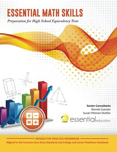 9781940532004  essential math skills  preparation for high