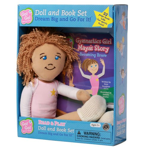 9781940731070: Gymnastics Girl Maya's Story: Becoming Brave: Read & Play Doll and Book Set (Go! Go! Sports Girls)