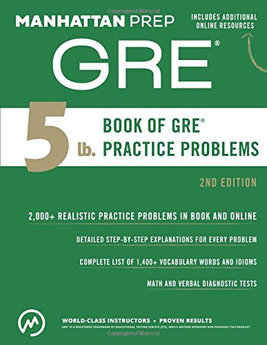 9781941234518: 5 lb. Book of GRE Practice Problems (Manhattan Prep 5 lb Series)
