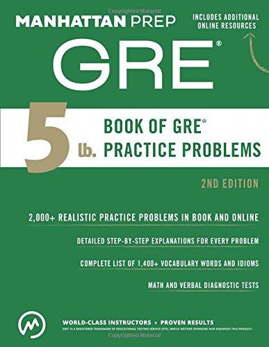 5 lb. Book of GRE Practice Problems: Manhattan Prep