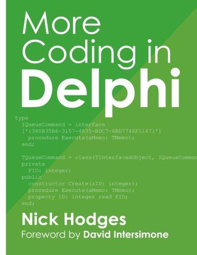 9781941266106: More Coding in Delphi