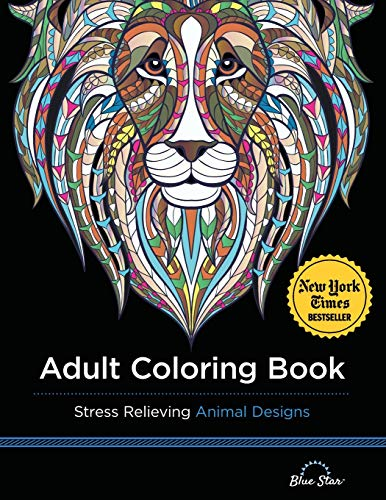 9781941325117: Adult Coloring Book: Stress Relieving Animal Designs