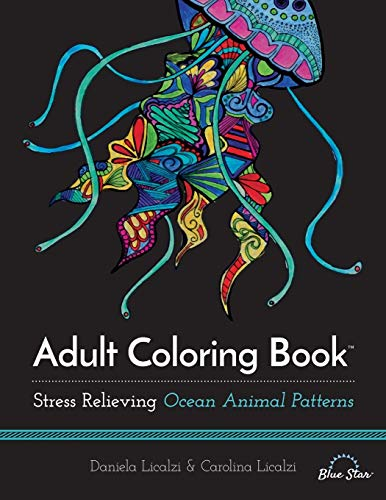 9781941325261: Adult Coloring Book: Ocean Animal Patterns