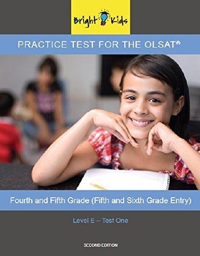 Bright Kids Olsat Practice Test Level Abebooks