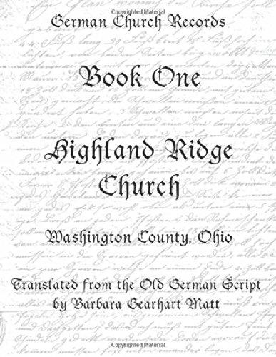 Highland Ridge Church, Washington County, Ohio:: Translated: Barbara Gearhart Matt