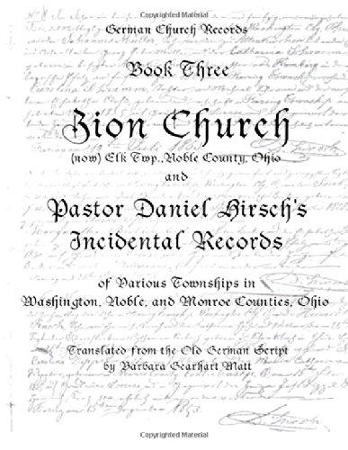 Zion Church, (now) Elk. Twp., Noble County,: Barbara Gearhart Matt
