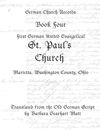 St. Paul's Church, Marietta, Washington County, Ohio: Barbara Gearhart Matt