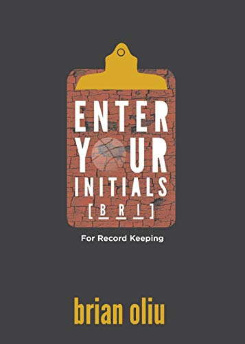 9781941462133: Enter Your Initials for Record Keeping
