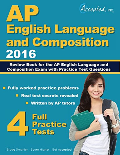 9781941743546: AP English Language and Composition 2016: Review Book for AP English Language and Composition Exam with Practice Test Questions